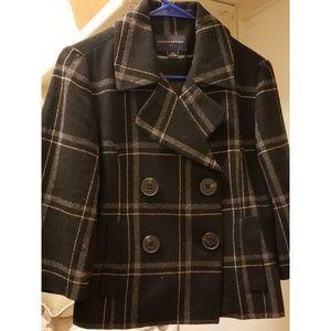 3/4 sleeve pea coat